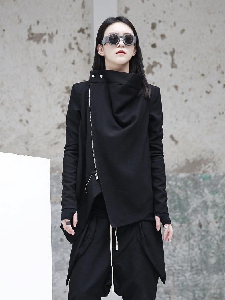 Nouveau Femmes Plus Taille Noir Léger Manche Longue Imprimé Floral Veste Aviateur