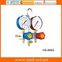 Mejor Modelo HS 404G manómetro cuerpo de válvula de aluminio