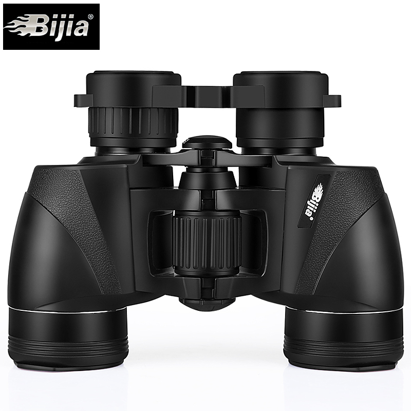 BIJIA 8x35 Porro BAK4 prism binoculars waterproof travel telescope green film coating folding eyepiece 157m/1000m nikula 8x42 high definition waterproof binoculars telescope bak4 prism multilayer broadband coating glass m7078
