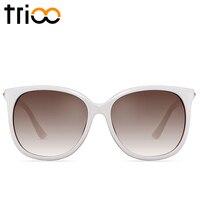 TRIOO Armação Oculos Mulheres Óculos De Sol de Alta Qualidade Branco Suave Lente Polarizada Condução Óculos de Sol Feminino de Luxo de Nova Marca Luneta
