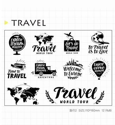 WYF930 Travel the world Scrapbook DIY Photo Album Cards Transparent Acrylic Silicone Rubber Clear Stamps Sheet  11x16cm wyf1017 scrapbook diy photo album cards transparent silicone rubber clear stamp 11x16cm camera