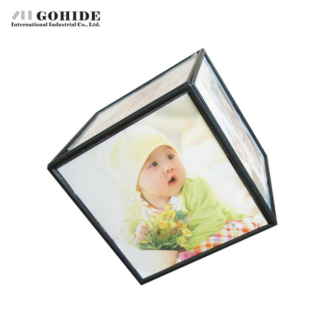 Online Shop JUH A Electric Rotating Photo Frame Magic Cube Photo ID ...