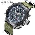 Gimto esporte mens relógios relógio de quartzo relógio masculino horas resistente aos choques de pulso digital de relogio reloj militares led gm201