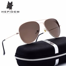 HEPIDEM 2017 Hot Classic Aviation Polarized Sunglasses Women Brand Designer Rays Protection Aviador Sun Glasses for Men Shades r