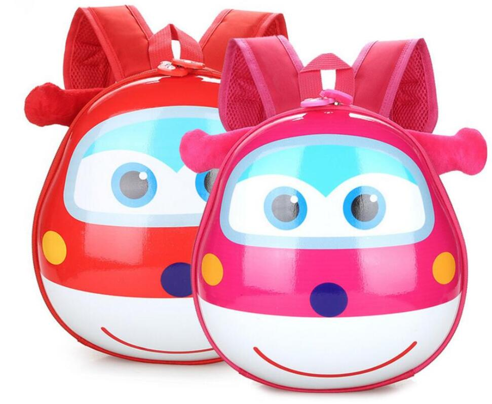 Kids Baby Cartoon School Bags 3D Super Wings Jett Backpack For Kindergarten Girls Boys Cute Schoolbag Children's Gift