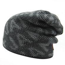 Мужские шапки Шапочки Трикотажные мужские Зимние Hat Caps Skullies Bonnet Зима шляпы Для Мужчин Женщины Шапочка Мех Теплый Багги Шерсть Вязаная Шапка
