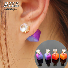 9b368a3967de0 Buy double sided earrings cubes and get free shipping on AliExpress.com