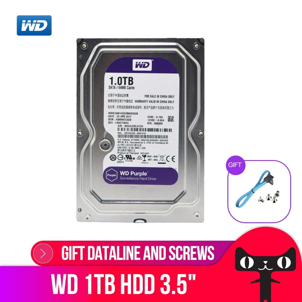 DEO Violet 1 TB Disque Dur Disque Pour Le Système De Sécurité WD10EJRX HDD 3.5 SATA DVR CCTV PC HDD Surveillance disques Durs
