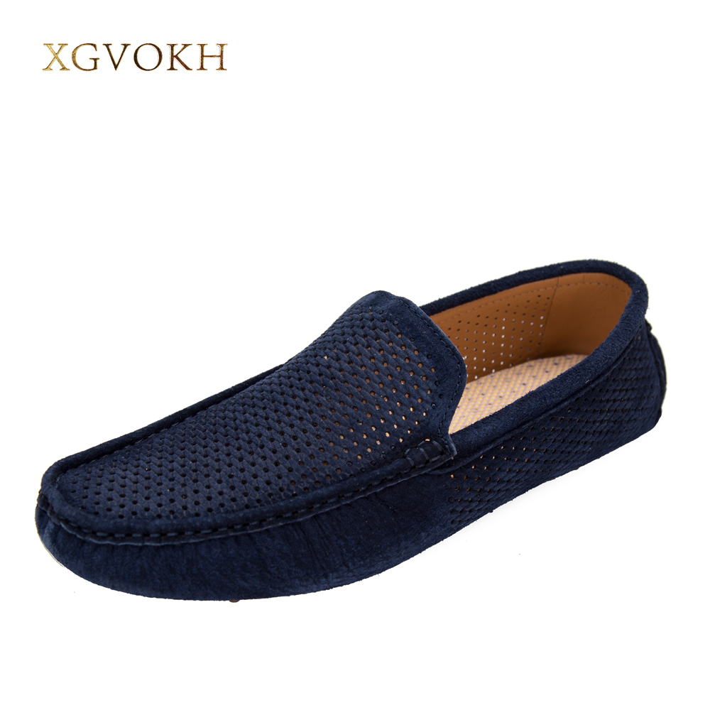 New Mens Casual Shoes Leather Breathable Loafers Cow Suede Lightweight Shoes superstar  Fashion Driving Flats Zapatos Hombre