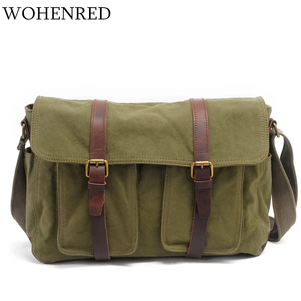 Vintage Military Men's Crossbody Bags Canvas Shoulder Bag Casual Large Capacity Fashion Men School Messegner Bag Travel Handbag 2017 canvas leather crossbody bag men military army vintage messenger bags large shoulder bag casual travel bags