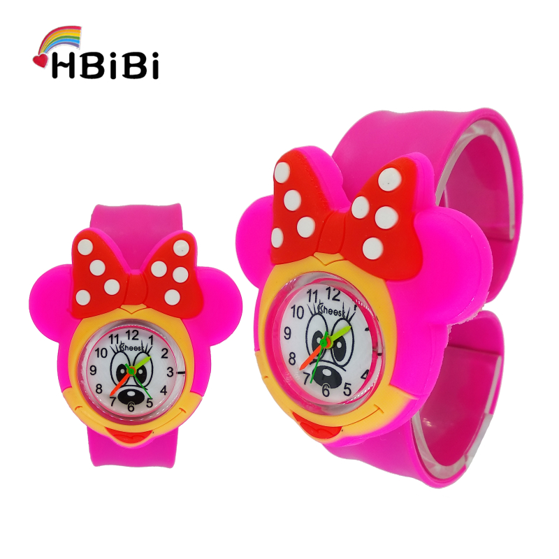 High Quality Fashion Children Watch For Girls Boys Baby Gift Clock Kids Watches Silicone Tape Patted Table Students Child Watch
