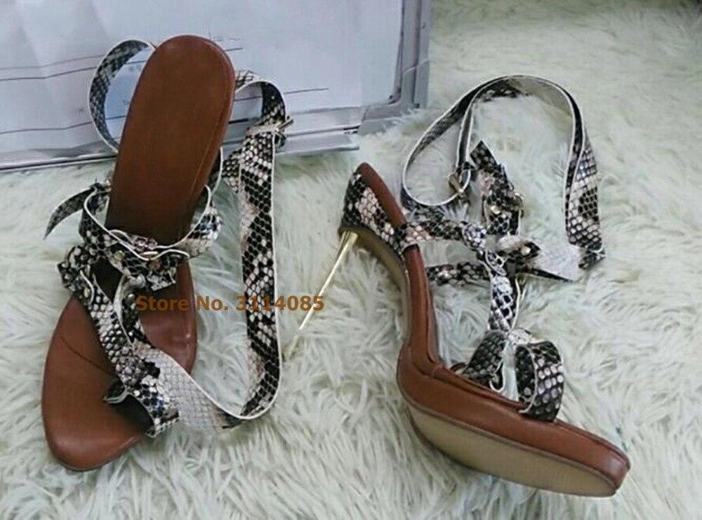 Robe Métal Sexy Or Bretelles Talons Femmes Spartiates Boucle Serpent Croix As Sandales Pompes Aiguilles Anneau Picture Chaussures EzAnqTwnx