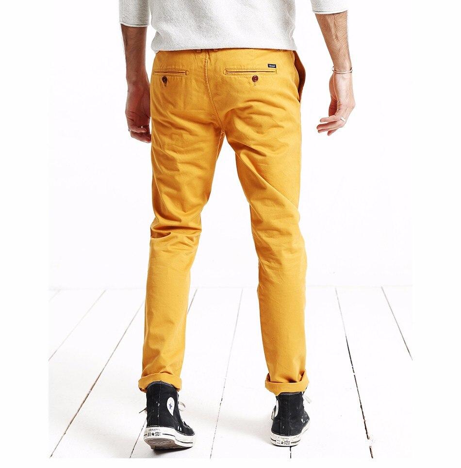 HTB1RMgZXcrrK1RjSspaq6AREXXaN Simwood Brand Autumn Winter New Fashion 2019 Slim Straight Men Casual Pants 100% Pure Cotton Man Trousers Plus Size KX6033