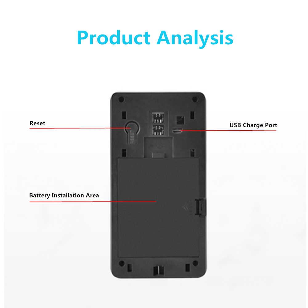 วิดีโอ 720P IP Security Intercom ไร้สาย WIFI Door Bell Camera Motion Detection ALARM Talk กันน้ำ SD Card