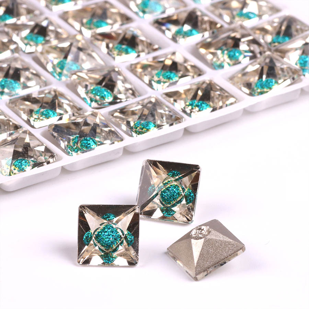Square Flatback Rhinestones 10 12mm Stone Sew On Crystal Faceted Crafts  Materials Loose Beads For Lampwork Glass Beads Wholesale-in Beads from  Jewelry ... 25ab0c8aa42f