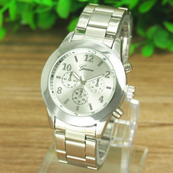 Quente nova moda 3 cores relógios senhoras feminino menina unisex de alta qualidade aço inoxidável relógio de pulso de quartzo relogio feminino