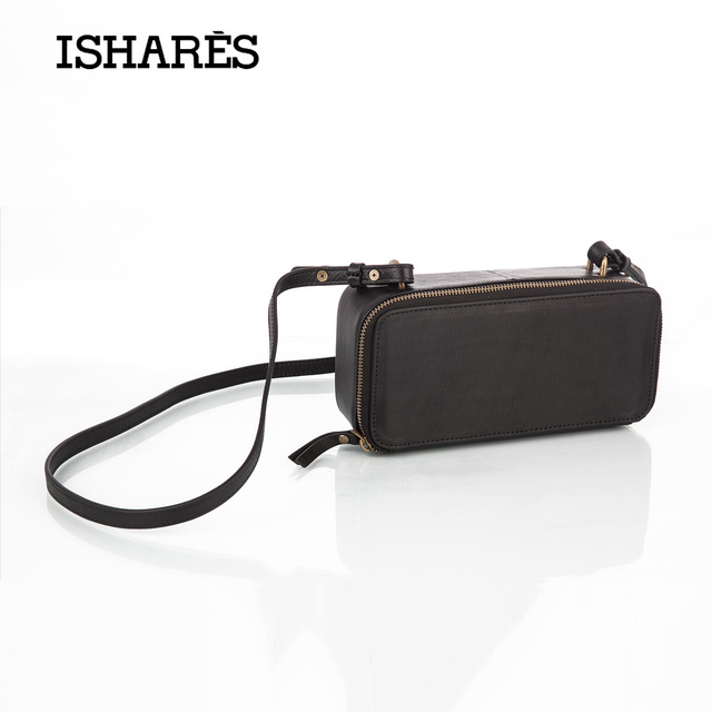 ISHARES Genuine Leather Crossbody Bag  Cow Leather Shoulder Bags High quality Simple Day Clutches Fashion card holder IS8112