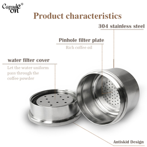 Image 3 - Capsulone/fit for illy X Y coffee Machine maker/STAINLESS STEEL Metal Refillable Reusable capsule fit for illy capsule pod cup