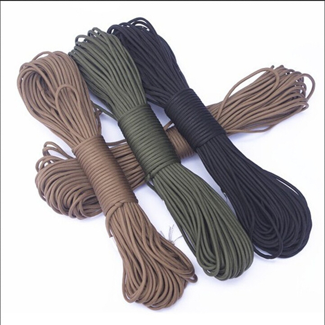 5 Meters  Dia.4mm 7 stand Cores Paracord for Survival Parachute Cord Lanyard Camping Climbing Camping Rope Hiking Clothesline 4