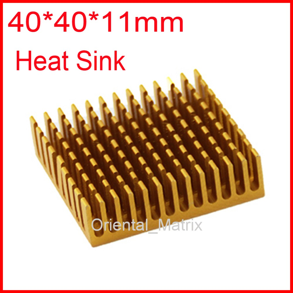 Free Shipping 5pcs 40*40*11mm HeatSink Heat Sink Radiator Small Radiator - Golden насос wwq nsf600