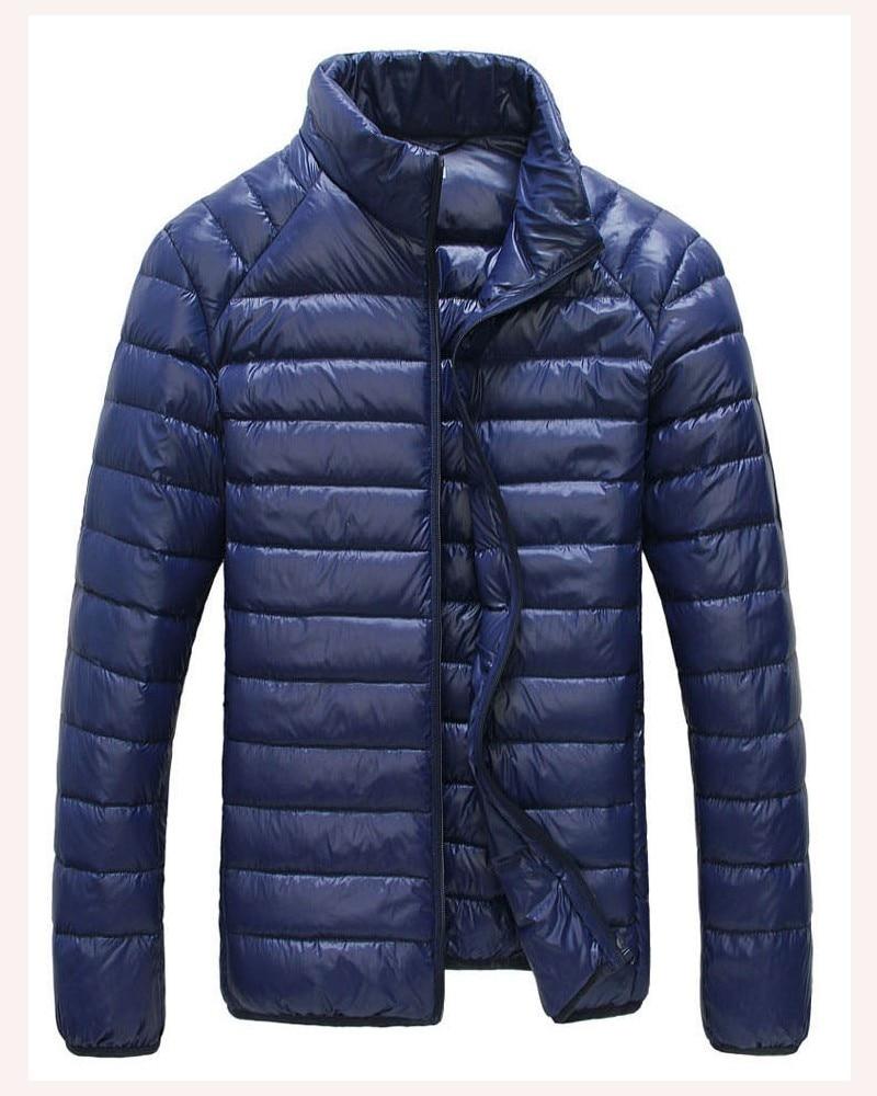 Мужская зимняя куртка ультра светильник 90% белый утиный пух куртки повседневное портативное зимнее пальто для мужчин размера плюс 4XL 5XL 6XL