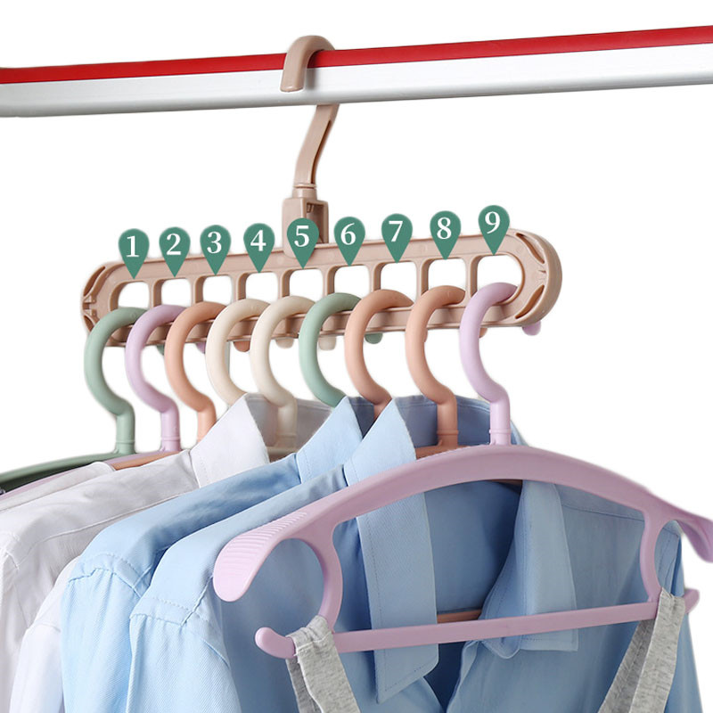 Magic Multi-port Support Circle Clothes Hanger Clothes Drying Rack Multifunction Plastic Scarf Clothes Hangers Storage Hangers