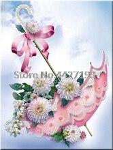 umbrella flowers full diamond embroidery bead patterns square 5d painting diy Mosaic rhinestones needlework