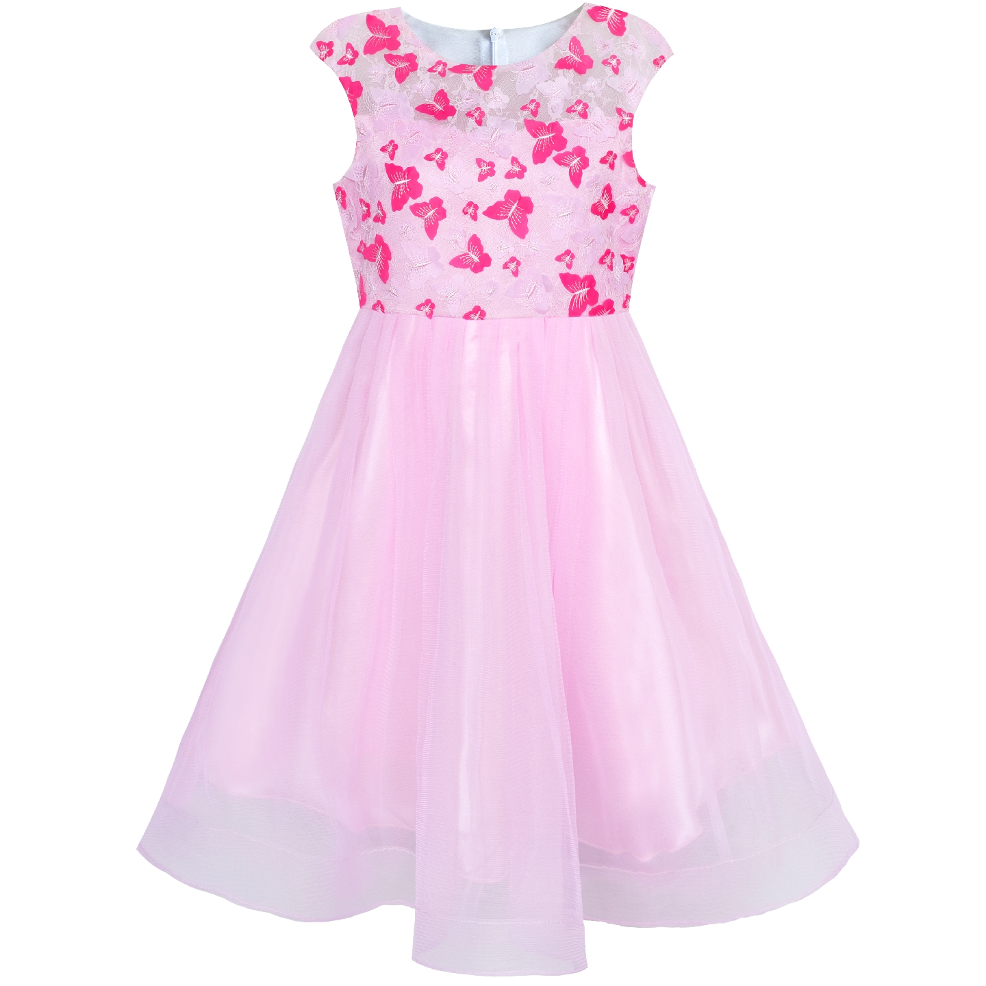 Flower Girl Dress Butterfly Pink Bridal Veil Wedding Bridesmaid 2019 Summer Princess Party Dresses Kids Clothes Pageant Sundress коммутатор allied telesis at gs950 24 управляемый 24xgblan 2xsfp