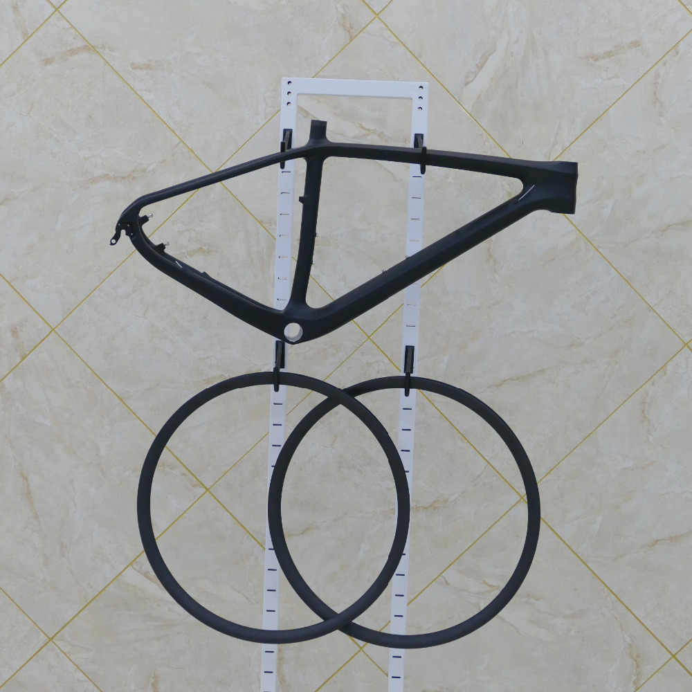 """Cadre de VTT vtt carbone mat 29er 15.5 """"17.5"""" 19 """"(Bsa) + jante de roue de vélo 29"""" + casque + pince de siège + porte-bidon"""