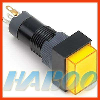 HABOO HBE10 dia.10mm illuminated push button switch reset,momentary with various color led lighting electrical switch 6v 12v 24v ...