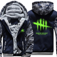 USA Size Mens Camouflage Hoodie Dead By Daylight Cosplay Luminous Camouflages Jacket Thicken Coat Fashion Sweatshirts
