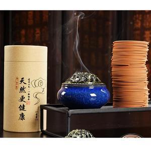 120 pçs/caixa bobina de sândalo incenso laoshan sândalo aromaterapia bobina de incenso natural sândalo madeira bobina incenso natural perfume