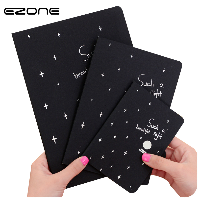 EZONE 1PC Sketchbook Diary Drawing Painting Graffiti Black Paper Ketch Book Notebook Office School Notebooks Supplies Stationery