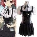 Anime Cosplay Inu X Boku SS Karuta Roromiya Ririchiyo Shirakiin Cosplay Costume Japanese School Uniform Lolita Dress S M L