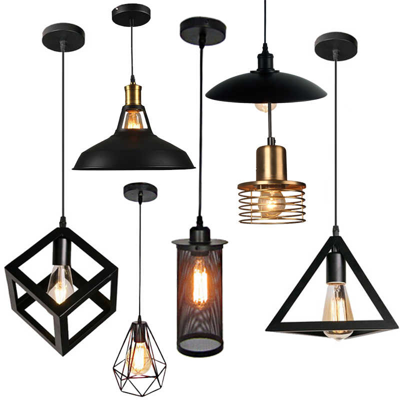 Cage Pendant Light Iron Minimalist