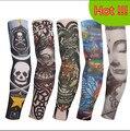 Mangas del tatuaje de halloween 5 unid kit colección largo brazo Falso tatuaje guante Protector Solar harajuku mangas