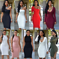 Hot Sale Summer Women Beach Dress Lady Sexy Party Bandage Dresses Womens Club Sexy Midi Solid Clothes Female Vestidos