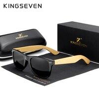 KINGSEVEN Оригинальные Мужские поляризационные бамбуковые солнцезащитные очки женские солнцезащитные очки в деревянной оправе Мужская брендо...