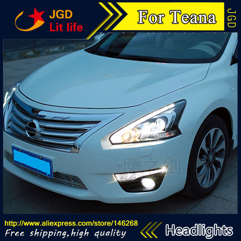 Auto Part Style LED Head Lamp for Nissan Teana 2013-2016 led headlights drl hid Bi-Xenon Lens low beam auto clud style led head lamp for benz w163 ml320 ml280 ml350 ml430 led headlights signal led drl hid bi xenon lens low beam