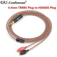 GUcraftsman 6n occ медь hd600 hd650 hd600s 4,4/2,5 мм Баланс наушников кабели повышенного качества
