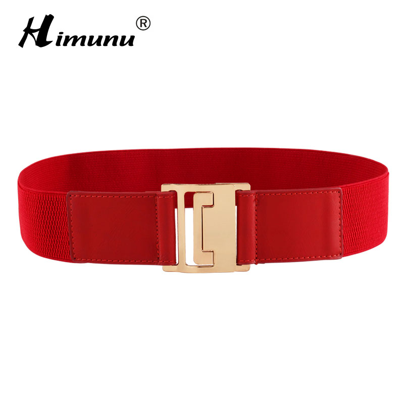 2015 New Arrival Fashion Summer Style Black Red Snap Fastener PU Leather Belt For Women Smooth Surface Joker