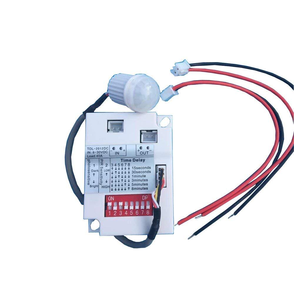 Interruptor de luz de Sensor de movimiento infrarrojo PIR de 12V