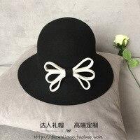 Emmer hoeden De wind herstellen oude manieren doek hoed Zoete strik De visser hoed Vrouwelijke hoed