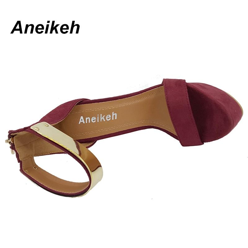 Aneikeh Ankle Strap Heels Platform Sandals Party Shoes For Women Wedding Pumps 16cm High Heels Sequined Gladiator Sandals Black