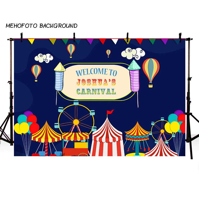 MEHOFOTO Children Circus Birthday Party Photo Background 7x5ft Thin Vinyl Photography Backdrops for Photo Studio Custom LV-084 circus banner party backdrops vinyl cloth computer printed children photo background circus
