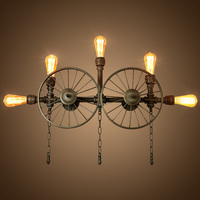 A1 Loft Retro American Industrial Wind Pipe Wall Bar Cafe Internet Cafe Wall Wall Lamps Personality