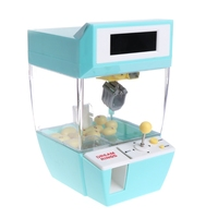 1 PC Catcher Alarm Clock Crane Candy Doll Grabber Claw Machine Candy Machine Gift Kids Games Mini Claw Arcade Crane