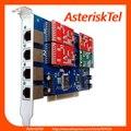 TDM410P Asterisk Trixbox Elastix карты-3 FXO + 1 FXS портов карты FXO VoIP аналоговый карты digium wildcard asterisk PCI голос доска