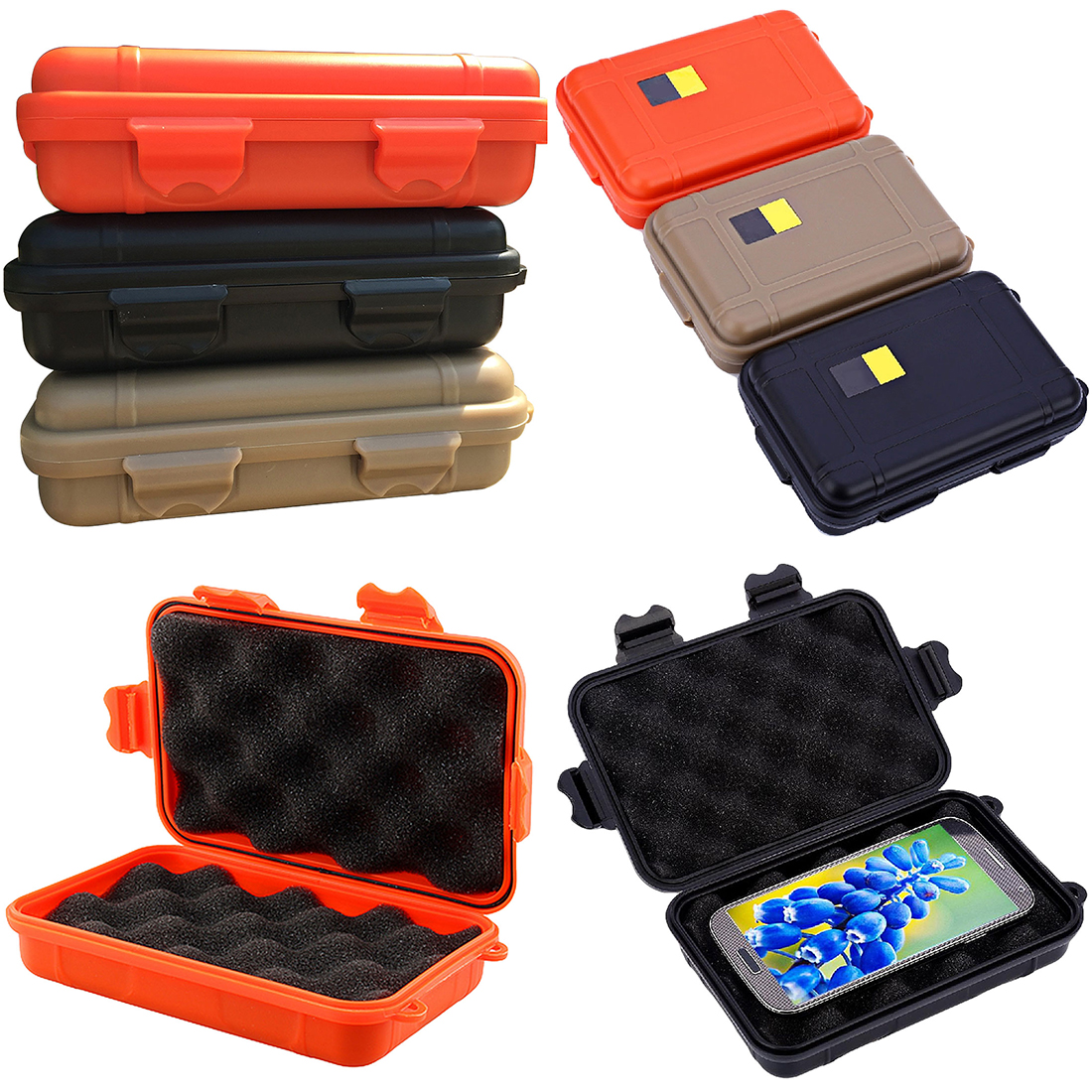 1pcs Outdoor Shockproof Waterproof Boxes Tool Box Survival Airtight Case Holder For Storage Tools Travel Sealed Container