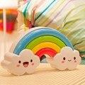 Rainbow Clouds Design dos desenhos animados Luz Da Noite Da Lâmpada Tomada de Parede de Controle de Luz Noturna LEVOU Com Interruptor Crianças Bebê Quarto Noite Lamp